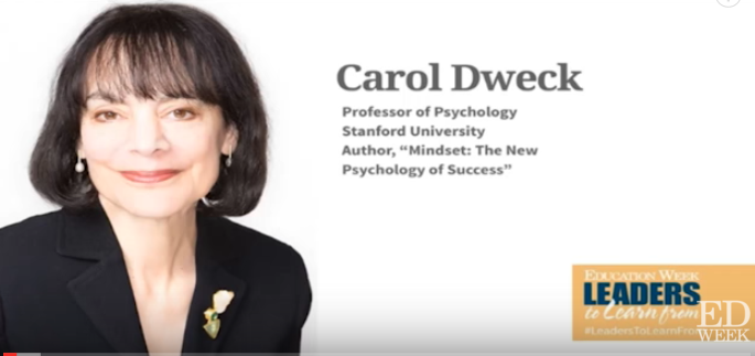 The Journey to a Growth Mindset – Carol Dweck (Video)