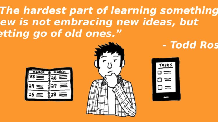 """The hardest part of learning something new"" – Todd Rose Quick Quote"